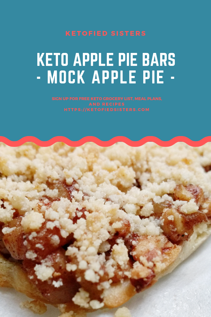 Keto Apple Pie Bars Pinterest Image