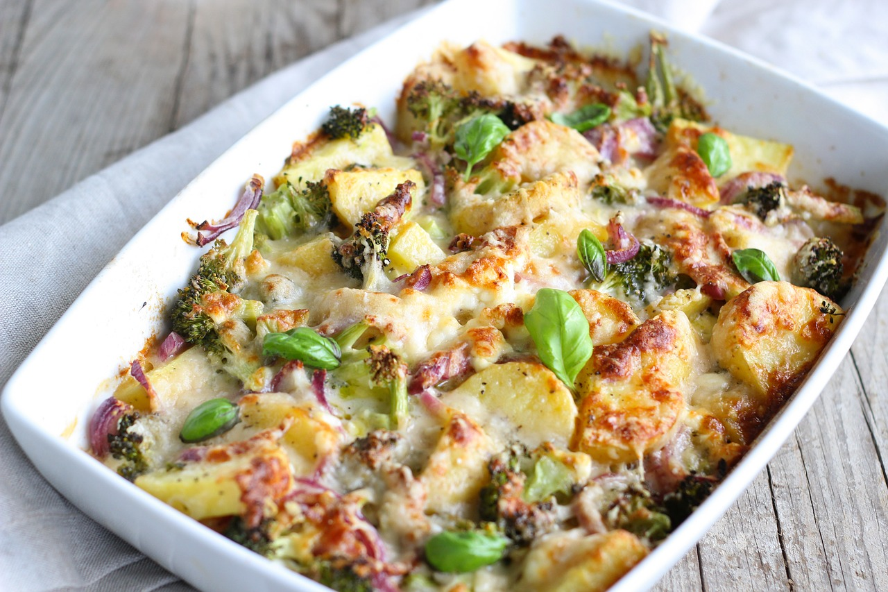 Three cheese ham and broccoli casserole Thanksgiving side dish