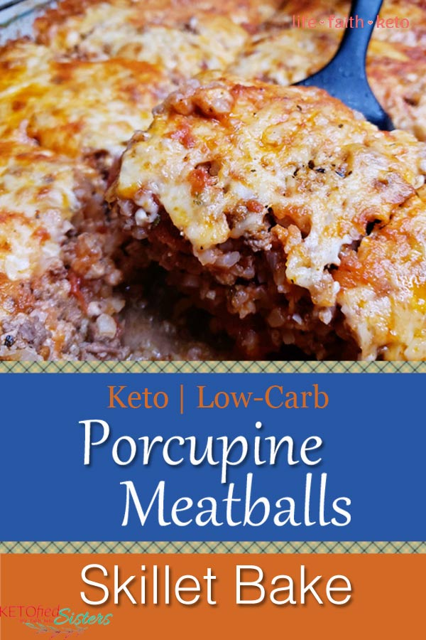 Pinterest Image for Porcupine Meatballs Bake