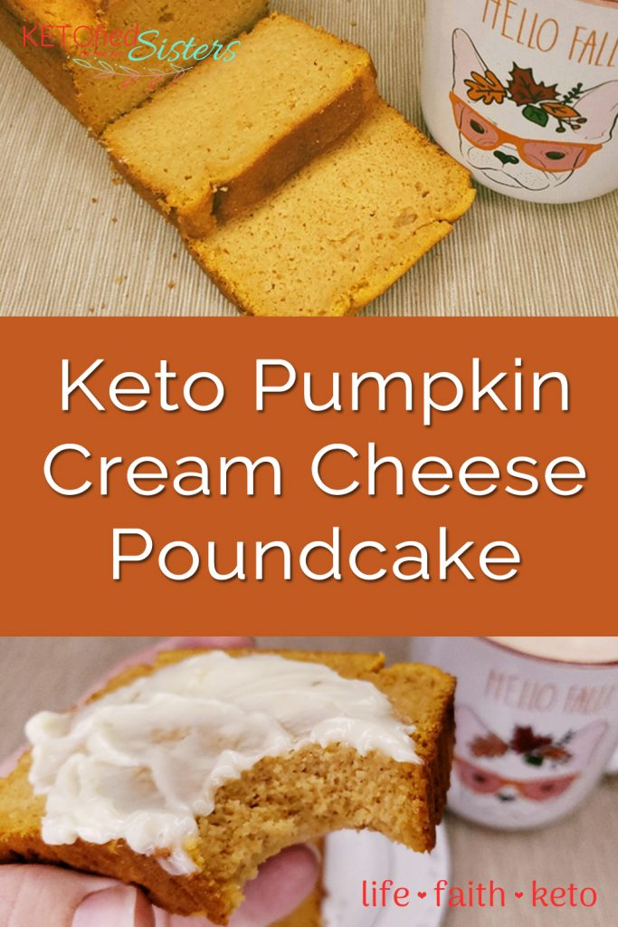 Pumpkin Cream cheese pound cake Pinterest image