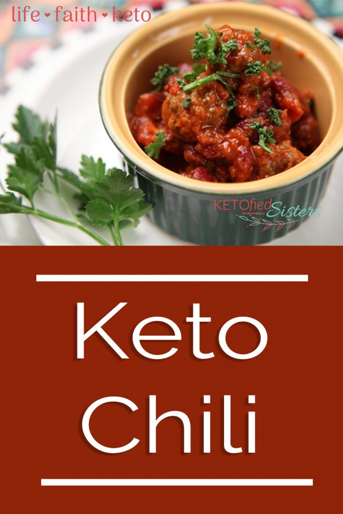 Keto chili Pinterest post image