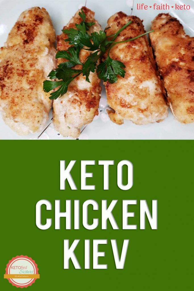 Keto Chicken Kiev pinterest image