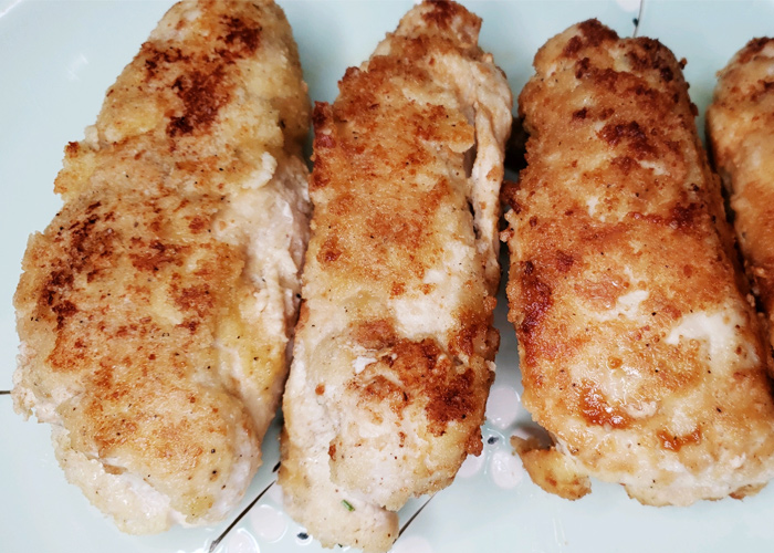 Keto Chicken Kiev rolled chicken baked