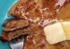 plate of french toast eggs with butter