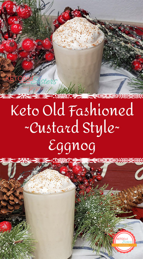 pinterest image for saving with pictures of eggnog